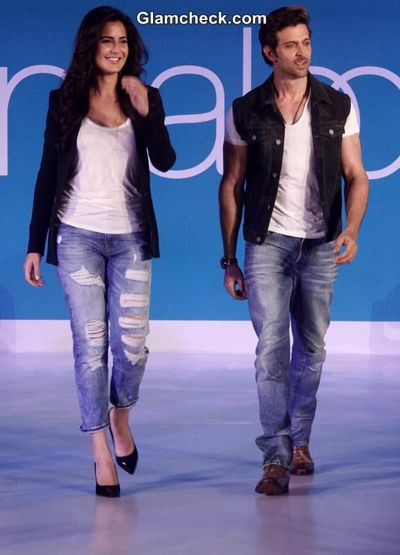 Katrina and Hrithik at the Pantaloons Limited Edition Collection show