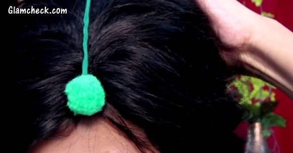 Pom Pom Accessories DIY maang tika