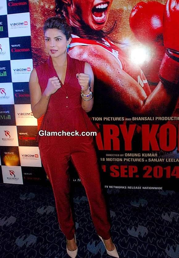 Priyanka Chopra 2014 Mary Kom Promotions in Lucknow