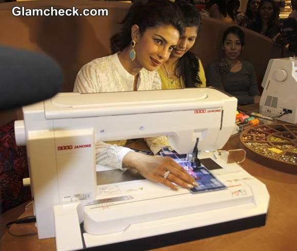 Priyanka Chopra Pics at the Usha International Hab centre in Mumbai