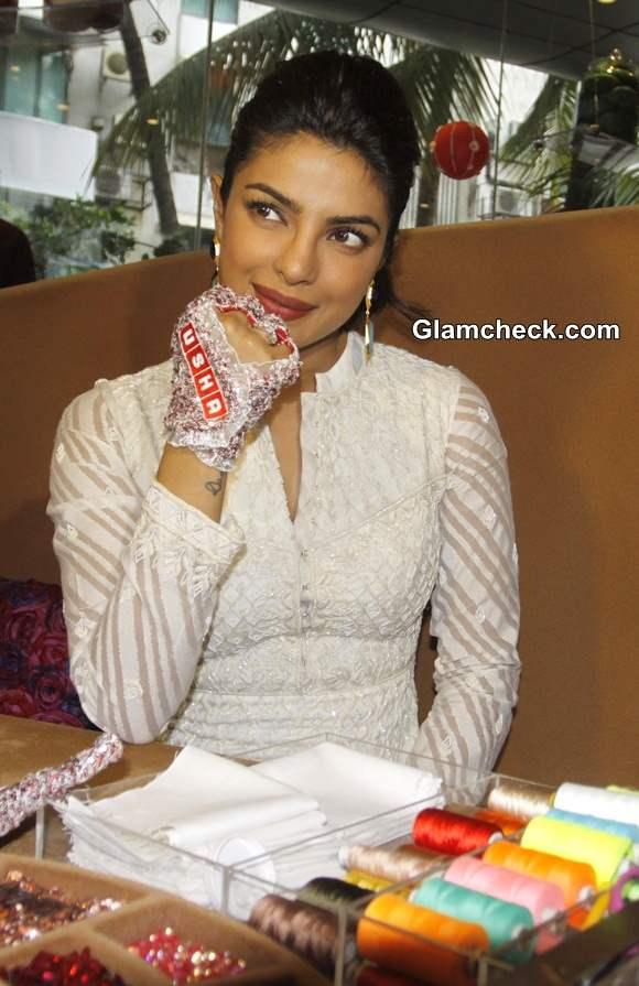 Priyanka Chopra at the Usha International Hab centre in Mumbai
