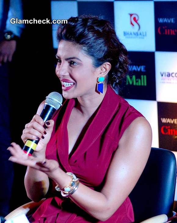 Priyanka Chopra during Mary Kom Promotions in Lucknow
