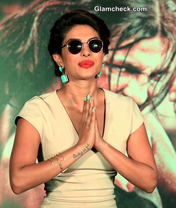 Priyanka Chopra during the promotion of film Mary Kom in New Delhi