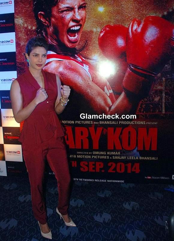 Priyanka Chopras Look during Mary Kom Promotions in Lucknow