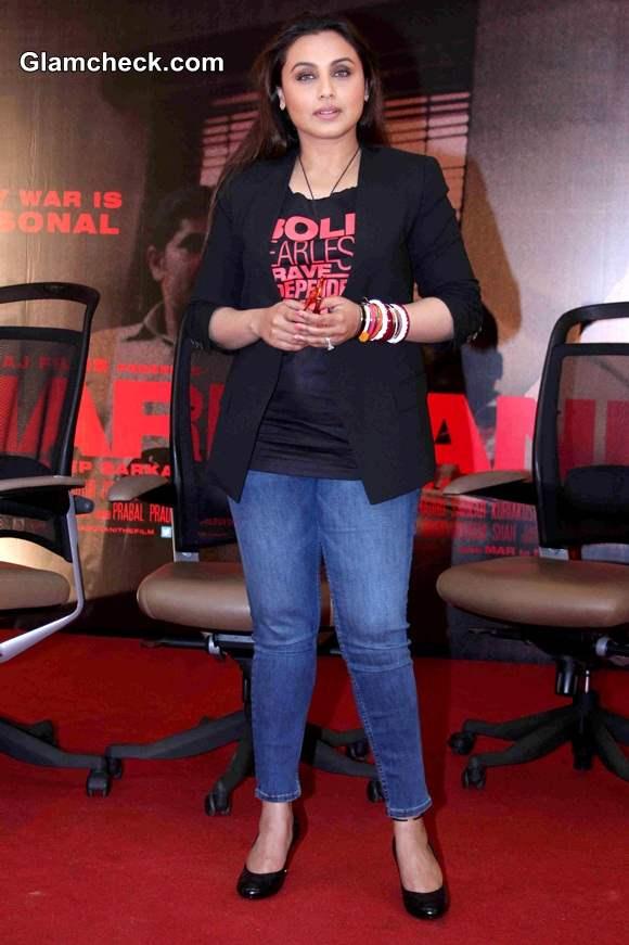 Rani Mukerji Goes Casual for Mardaani Press Meet