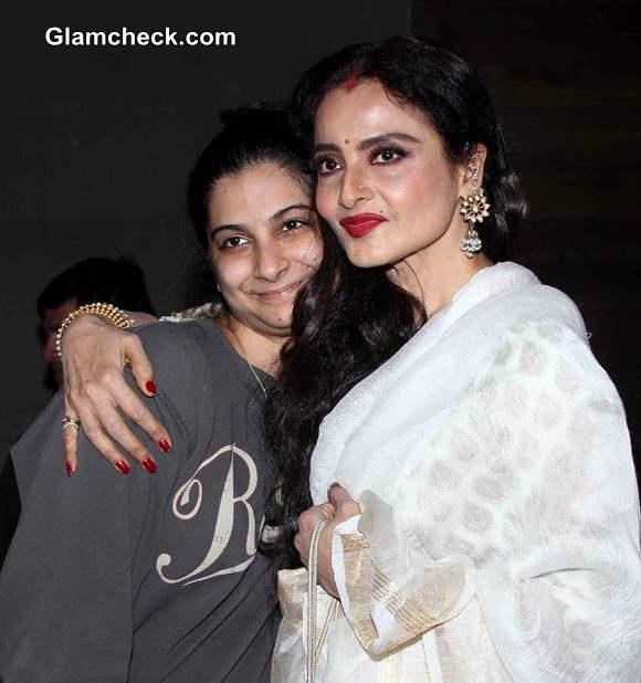 Rekha and Rhea Kapoor at the special screening of film Khoobsurat