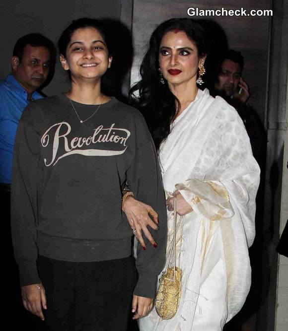 Rekha at special screening of film Khoobsurat