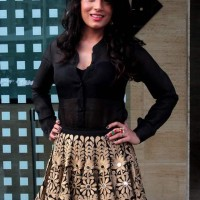 Richa Chadda in Mayyur Girotra outfit during the launch of song In Da Club