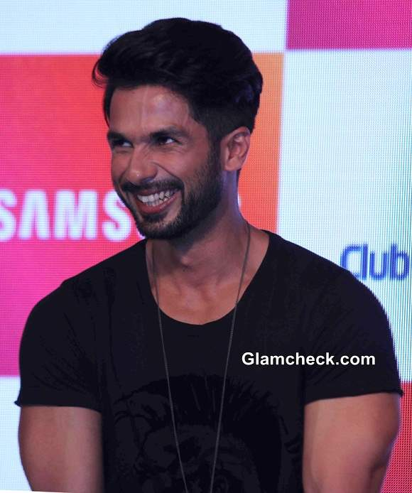 Shahid Kapoor at the launch of Club Samsung