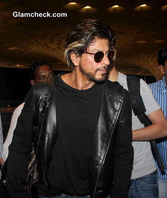 Shahrukh Khan with Son Aryan at Mumbai airport