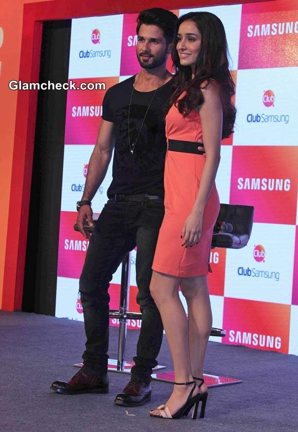 Shraddha Kapoor in Kenneth Cole at the launch of Club Samsung