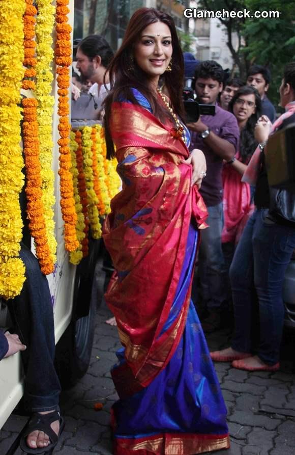 Sonali Bendre in Sari 2014
