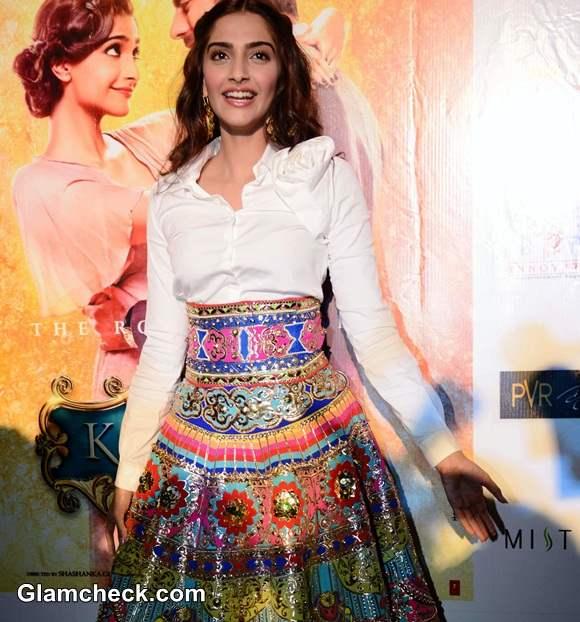 Sonam Kapoor 2014 Manish Arora Skirt