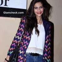 Sonam Kapoor 2014 at the special screening of Khoobsurat