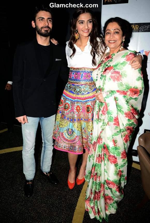 Sonam Kapoor  Fawad Khan Kirron Kher  promotion of Khoobsurat