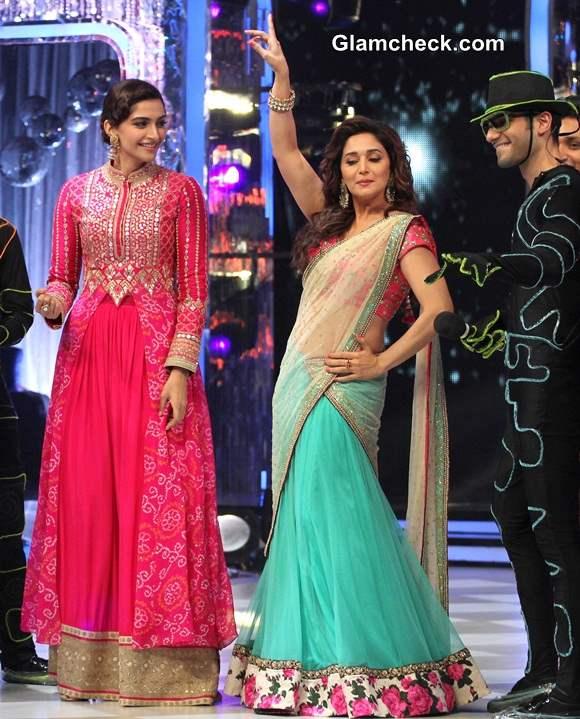 Sonam Kapoor Madhuri Dixit on Jhalak Dikhla Jaa Khoobsurat Promotions