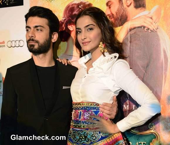 Sonam Kapoor and Fawad Khan 2014 Manish Arora Skirt