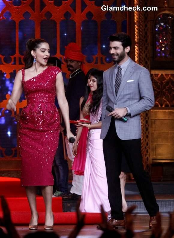 Sonam Kapoor and Fawad Khan on the sets of Zee Cine Star Ki Khoj