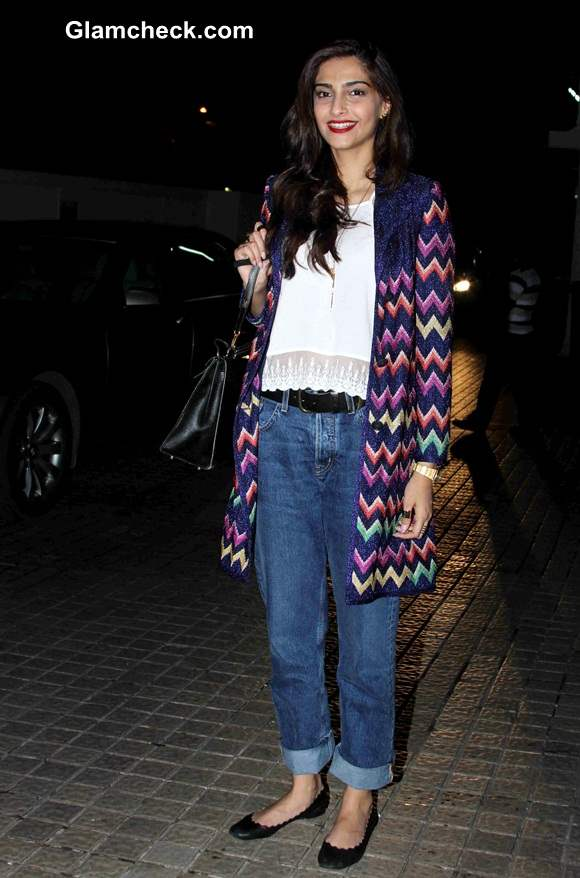 Sonam Kapoor at the special screening of Khoobsurat