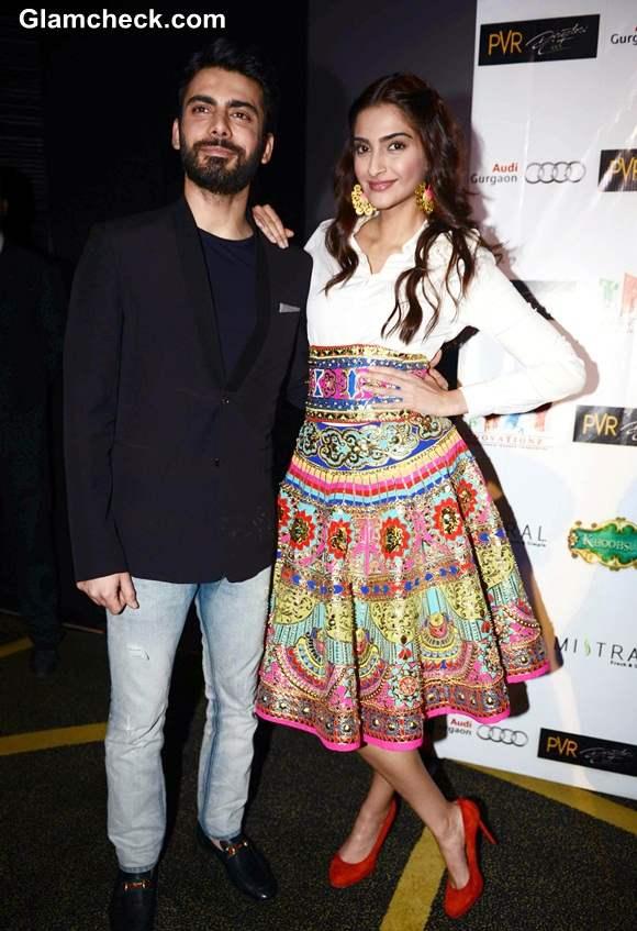 Sonam Kapoor in Manish Arora during Khoobsurat promos