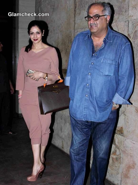 Sridevi and Boney Kapoor 2014