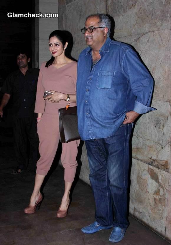 Sridevi and Boney Kapoor at the special screening of film Khoobsurat