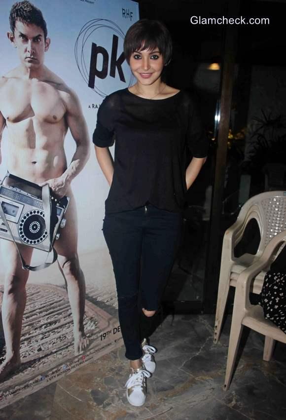 Anushka Sharma new pixie haircut look for her film PK
