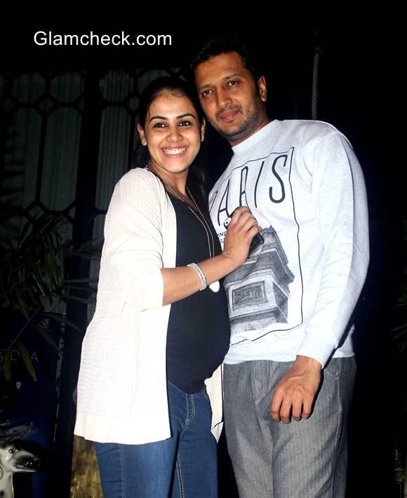 Couple Riteish Deshmukh and Genelia DSouza