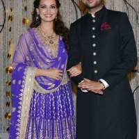 Dia Mirza and Sahil Sangha Sangeet ceremony