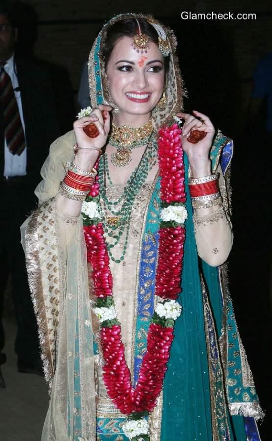 Dia Mirza wedding lehenga