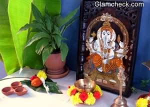 Diwali Puja Area Setup Decoration Idea