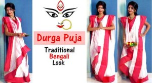 Durga Puja Traditional Bengali Look – Indian Youtuber