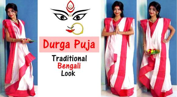 Durga Puja Traditional Bengali Look