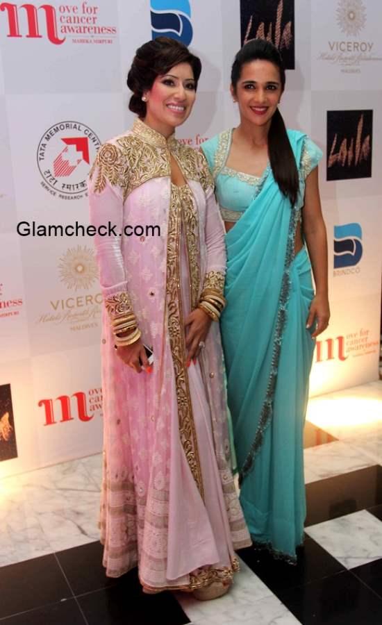 Fashion designer Maheka Mirpuri with Tara Sharma