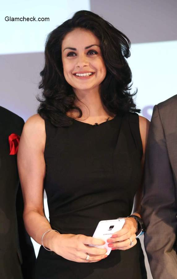 Gul Panag attends the launch of the Samsung Galaxy Note 4 smartphone in India
