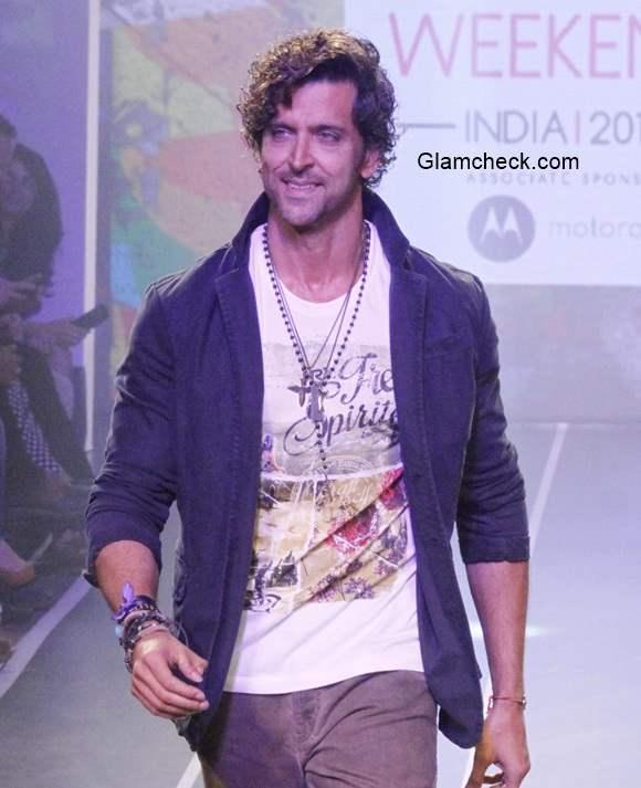 Hrithik Roshan at Myntra Fashion Weekend 2014