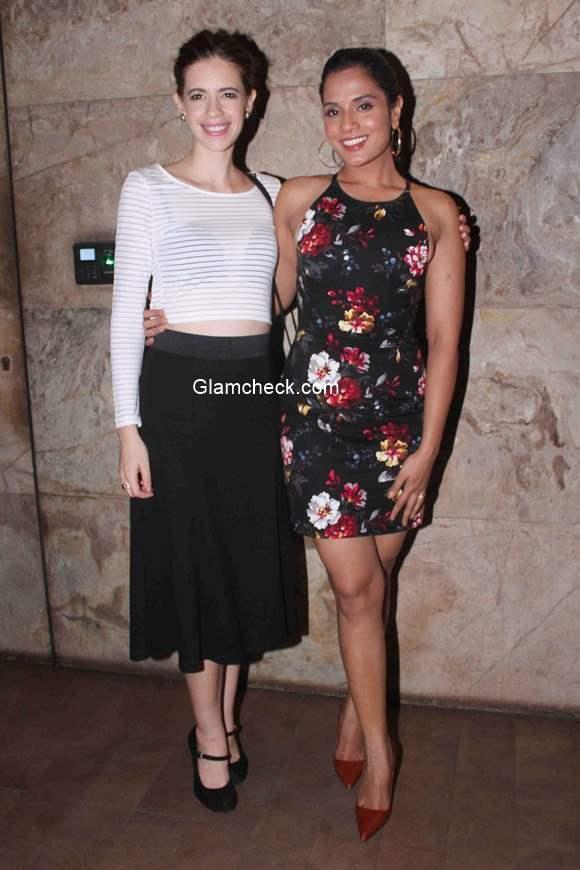Kalki Koechlin and Richa Chadda during the screening of film Tamanchey