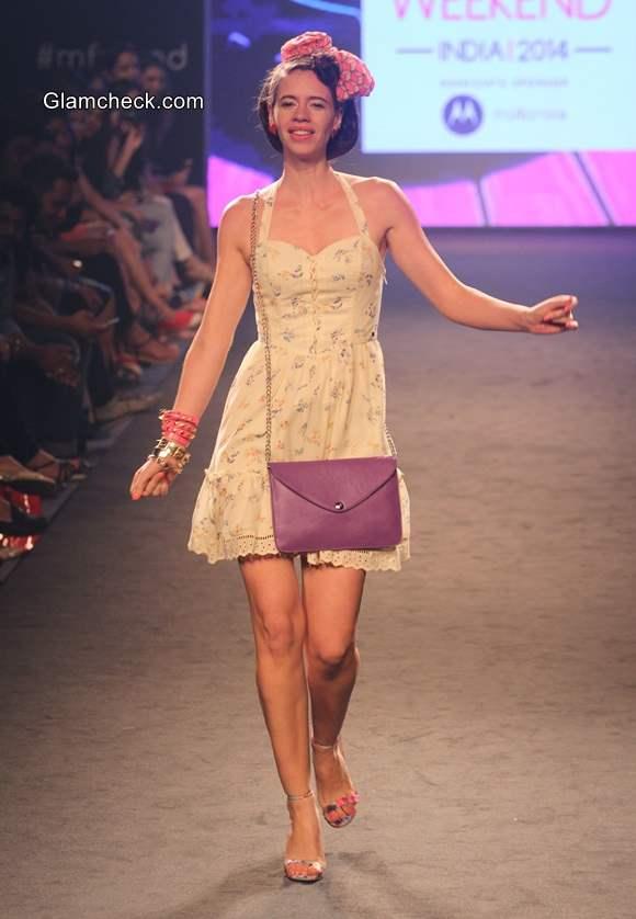 Kalki Koechlin at Myntra Fashion Weekend 2014