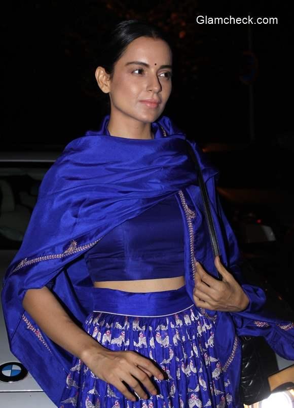 Kangana Ranaut in Sanjay Garg Blue Lehenga
