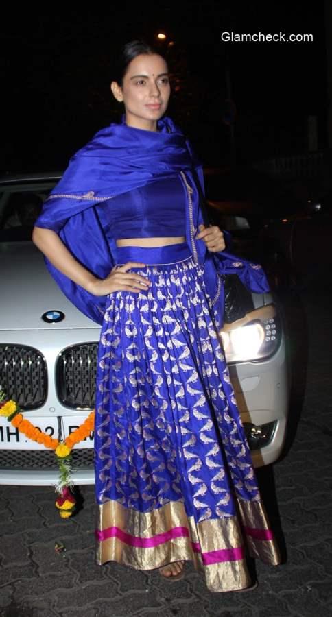 Kangana Ranaut in Sanjay Garg for Amitabh Bachchans Diwali party