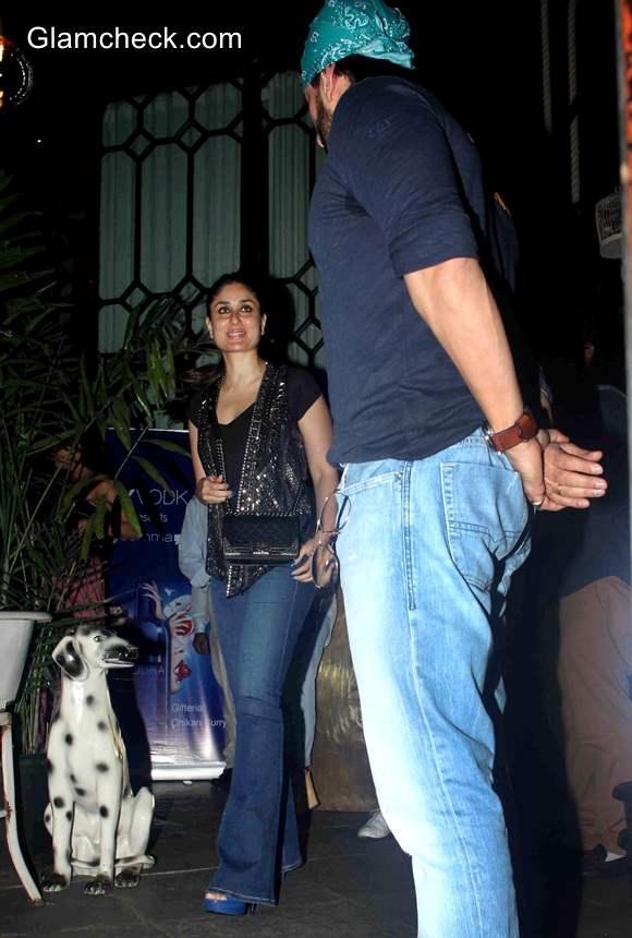 Kareena Kapoor and Saif Ali Khan spotted at a restaurant