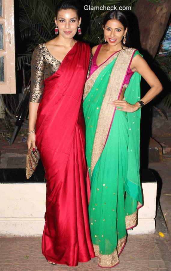 Model Deepti Gujral and Candice Pinto