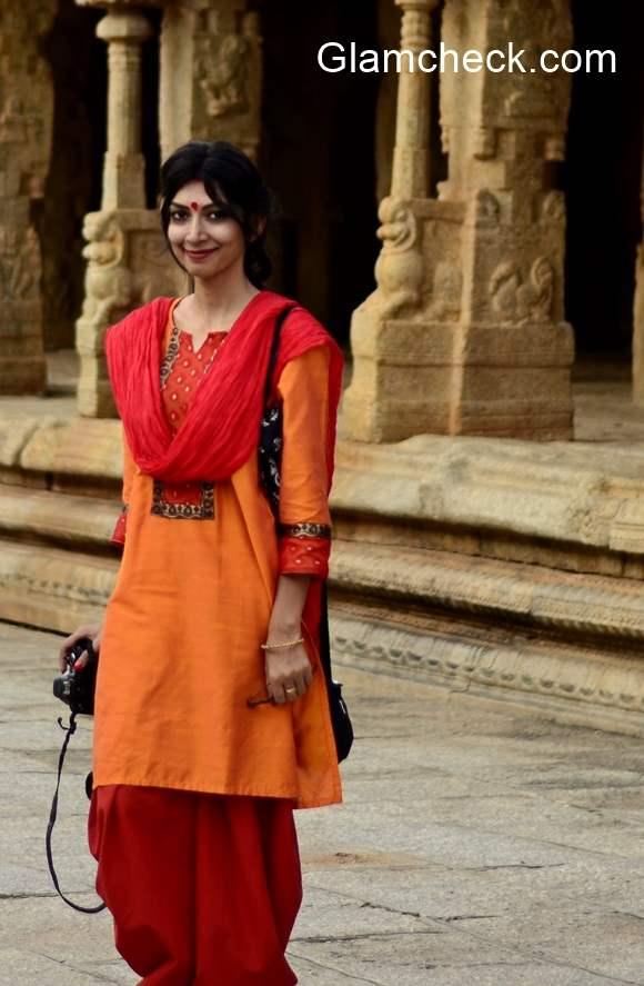 Nalli Silks Bangalore Temple Outfit