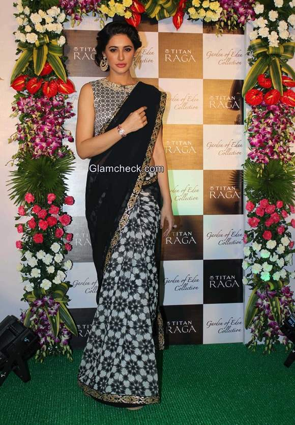 Nargis Fakhri in sari 2014