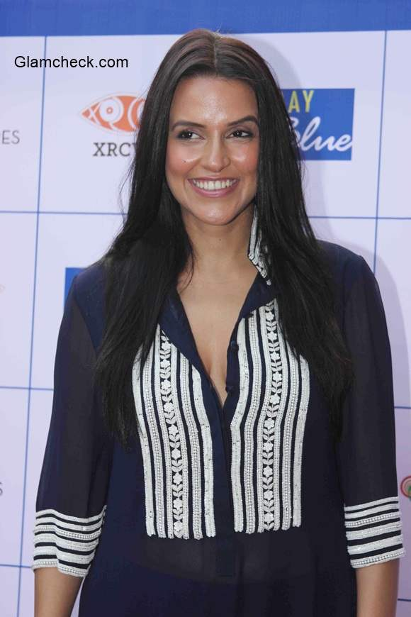 Neha Dhupia in Manish Malhotra 2014