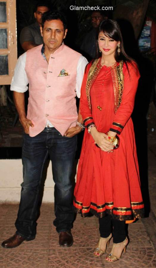 Preeti Jhangiani with her husband Parvin Dabas