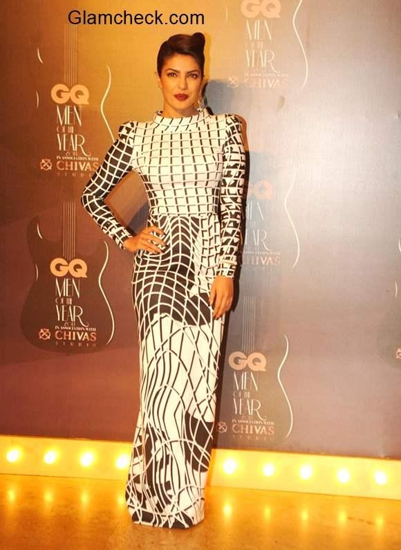 Priyanka Chopra in Toni Maticevski during GQ Men of the Year Awards 2014