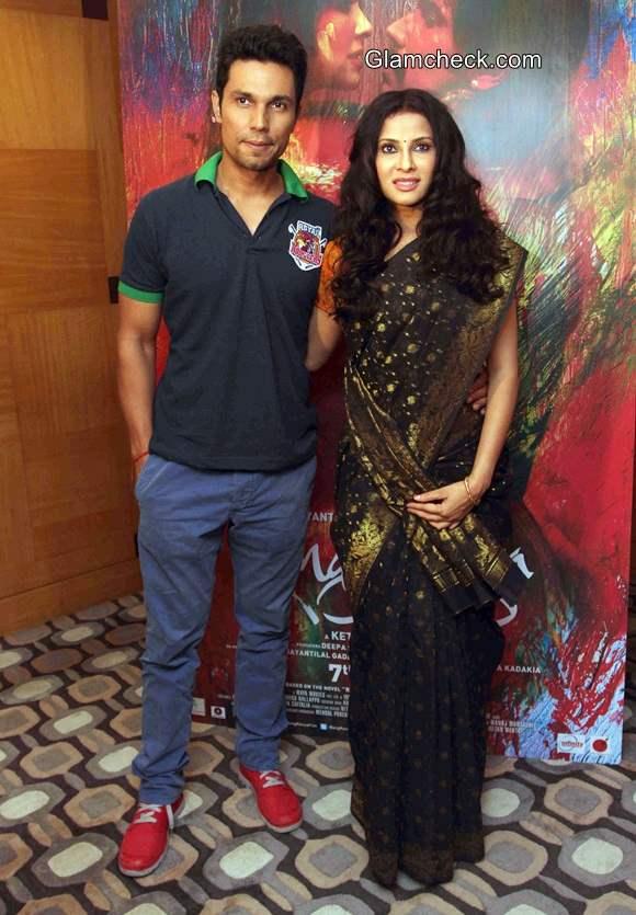Randeep and Nandana at the press conference of film Rang Rasiya