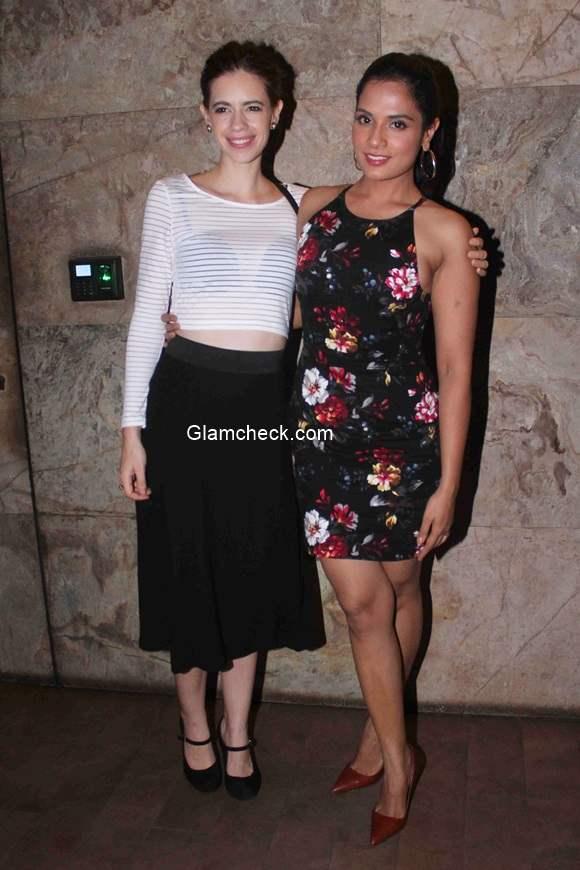 Richa Chadda and Kalki Koechlin at screening of film Tamanchey