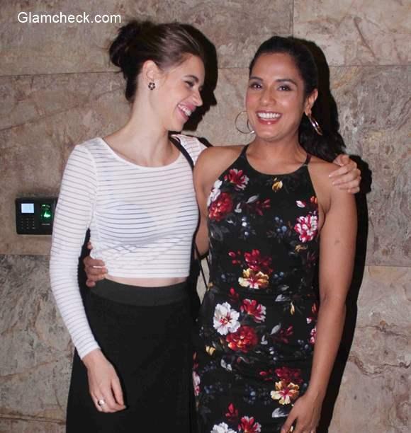 Richa Chadda and Kalki Koechlin at the screening of film Tamanchey